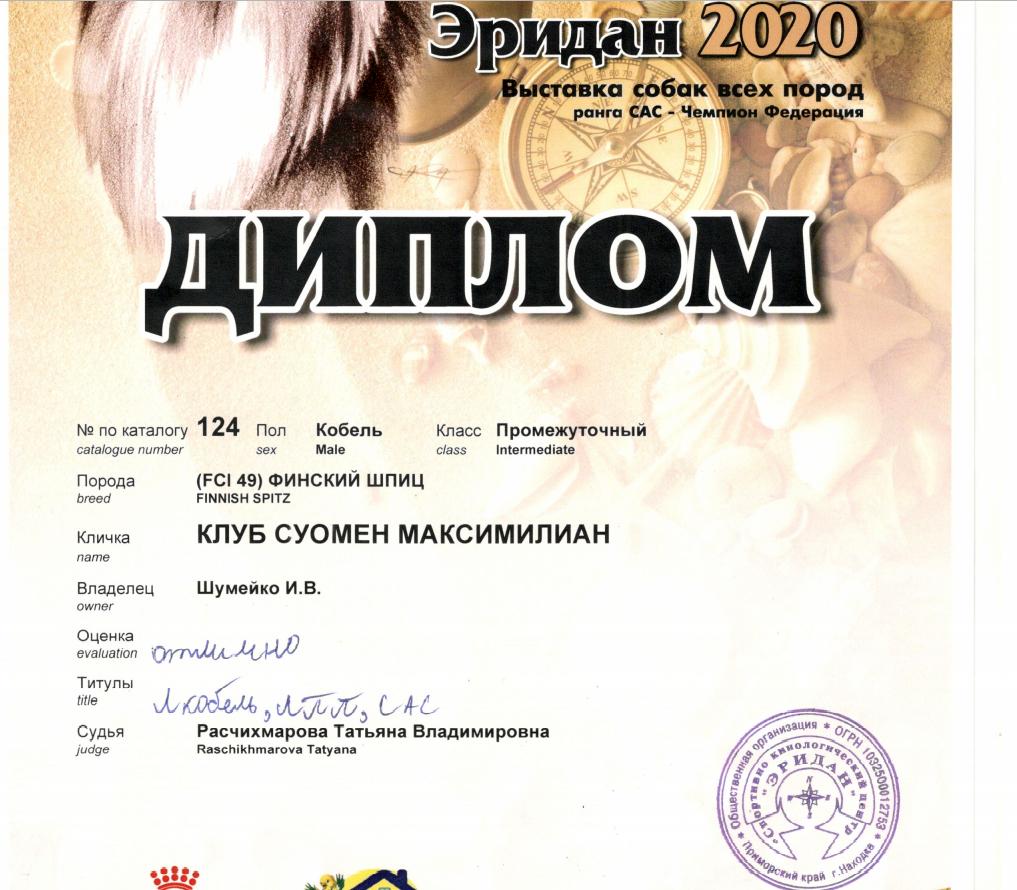 Клуб Суомен Максимилиан Шумейко Инна